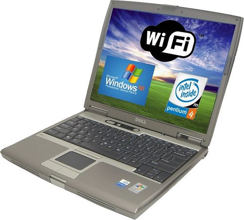 WIRELESS DELL LATITUDE D610 Laptop Notebook w Win XP Pro 100GB HDD 2GB