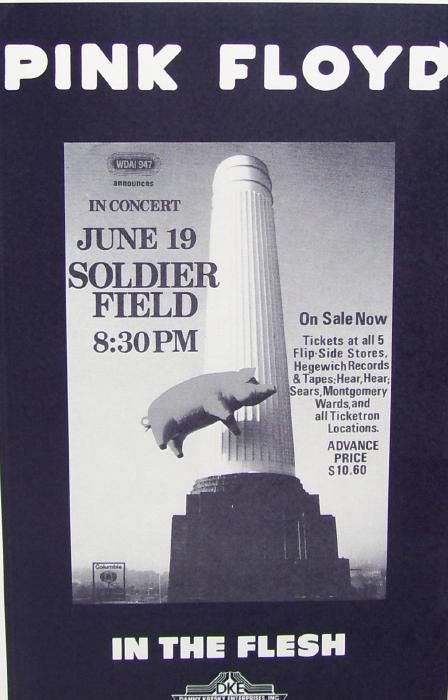 Pink Floyd Soldier Field 1977 Concert Poster Print RARE