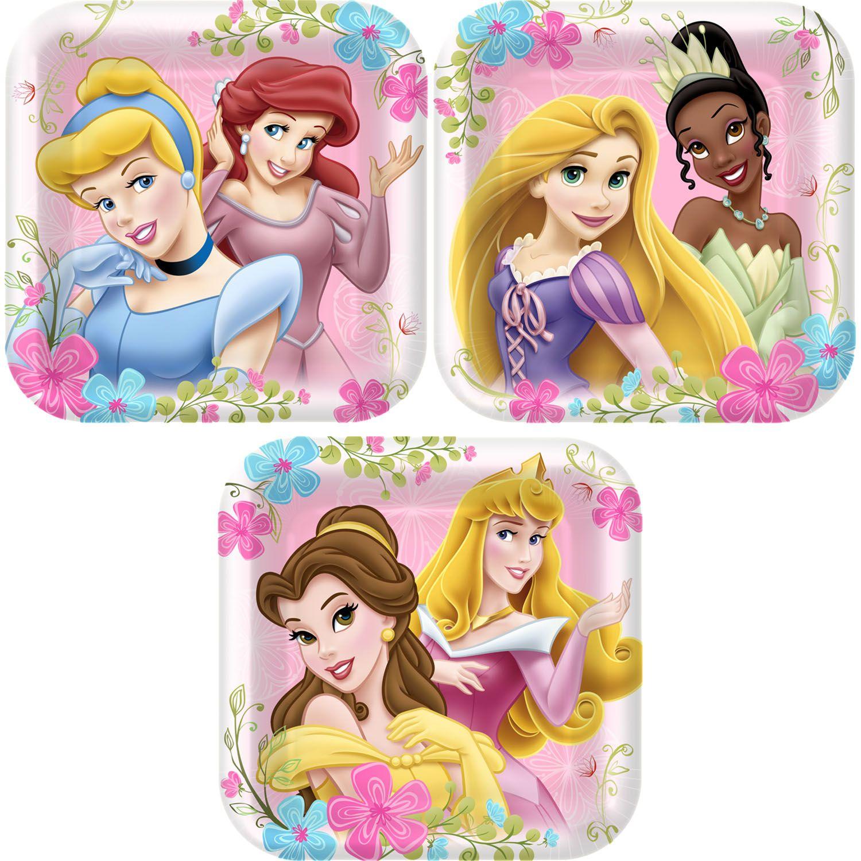 Disney Princess Birthday Party 16 Dessert Plates Beverage Napkins Cups