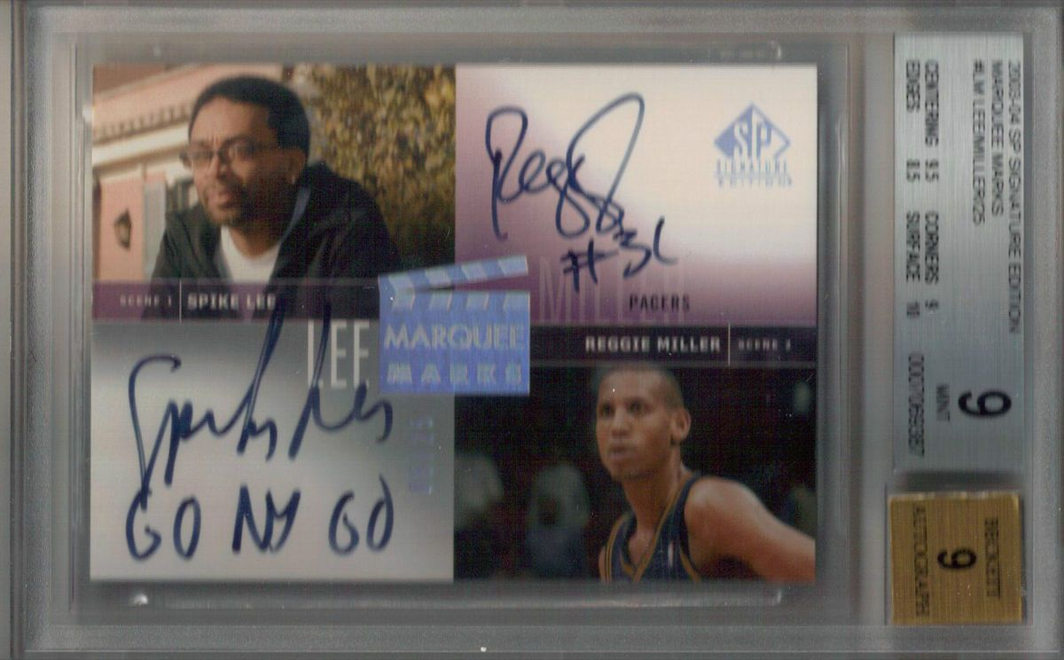 03/04 SP Signature Spike Lee Reggie Miller Dual Auto Marquee Marks #25