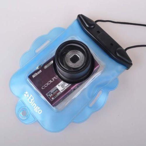 Underwater Digital Cameras Waterproof Case Dry Bag Blue