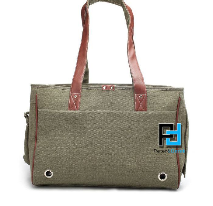 Pet Dog Cat Canvas Travel Pack Carrier Bag Tote Purse Carry On