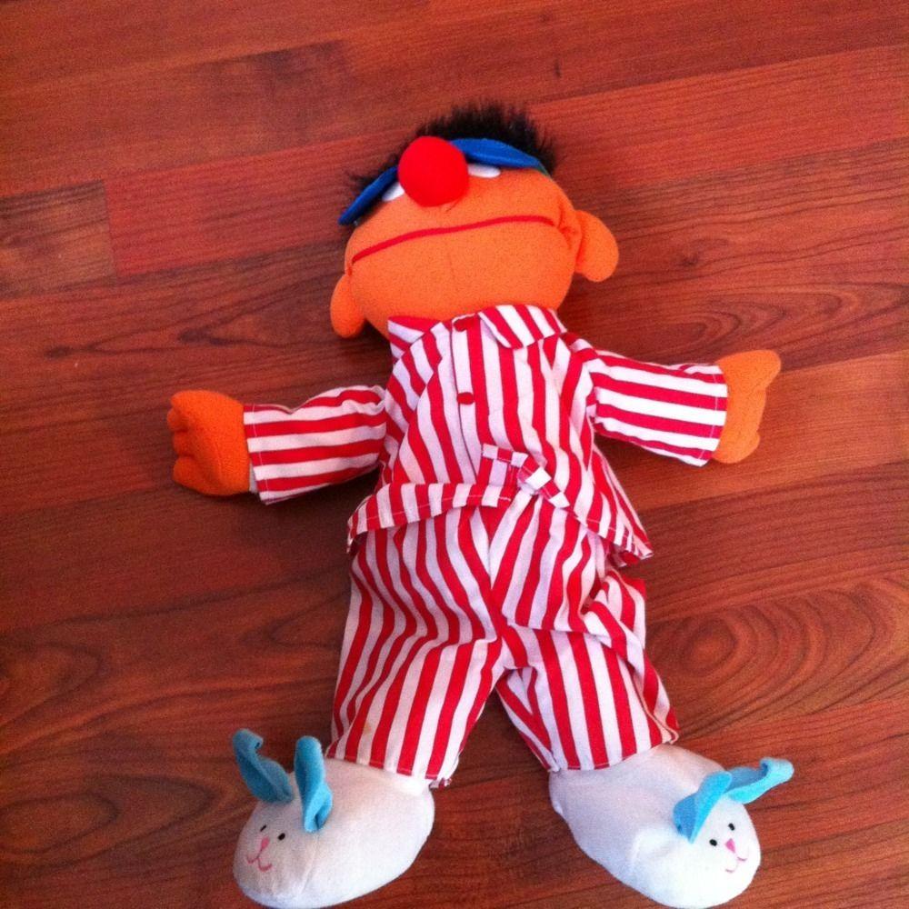 Sesame Street Bedtime Ernie Sing Snore Plush Doll