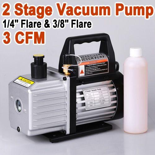 Stage 3CFM Rotary Vane Deep Vacuum Pump HVAC Tool AC