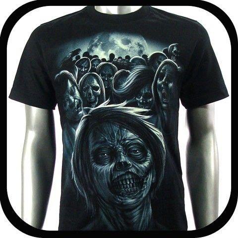 Rock Eagle T Shirt Biker Skull Punk Tattoo RE16 Sz XXL Graffiti Devil