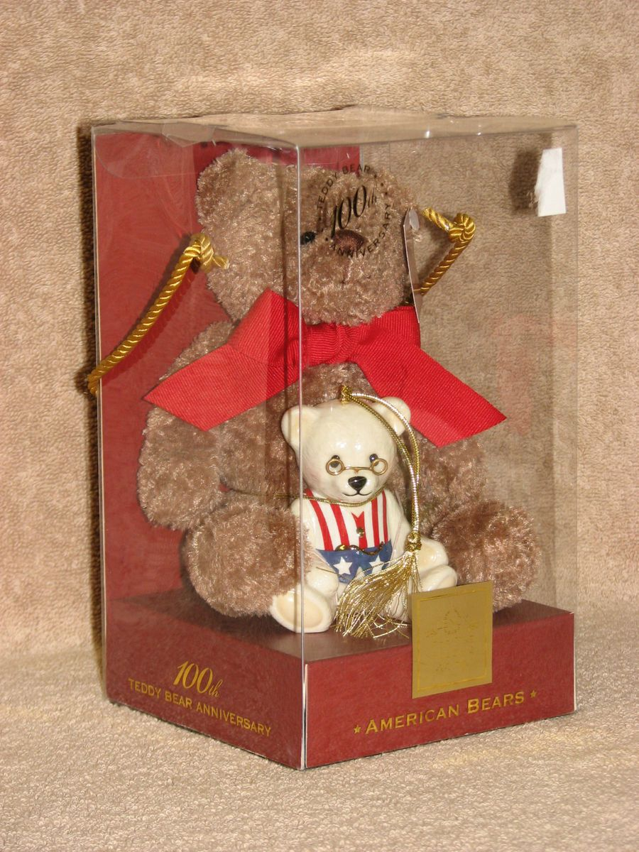 Lenox Christmas American Bears 100th Anniversary Teddy Bear w/ China