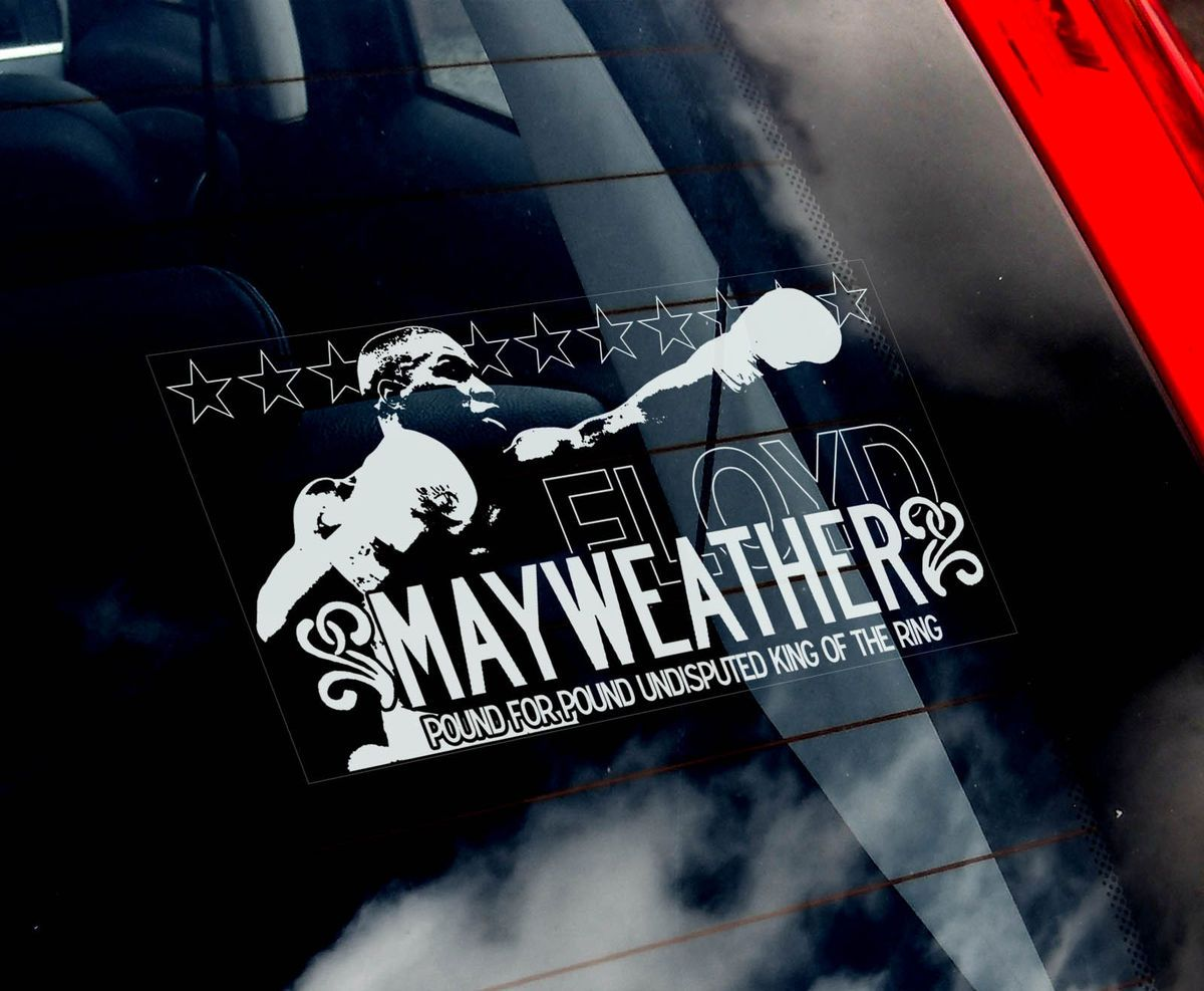 Floyd Mayweather Jr   Car Window Sticker   WBC Welterweight Boxing