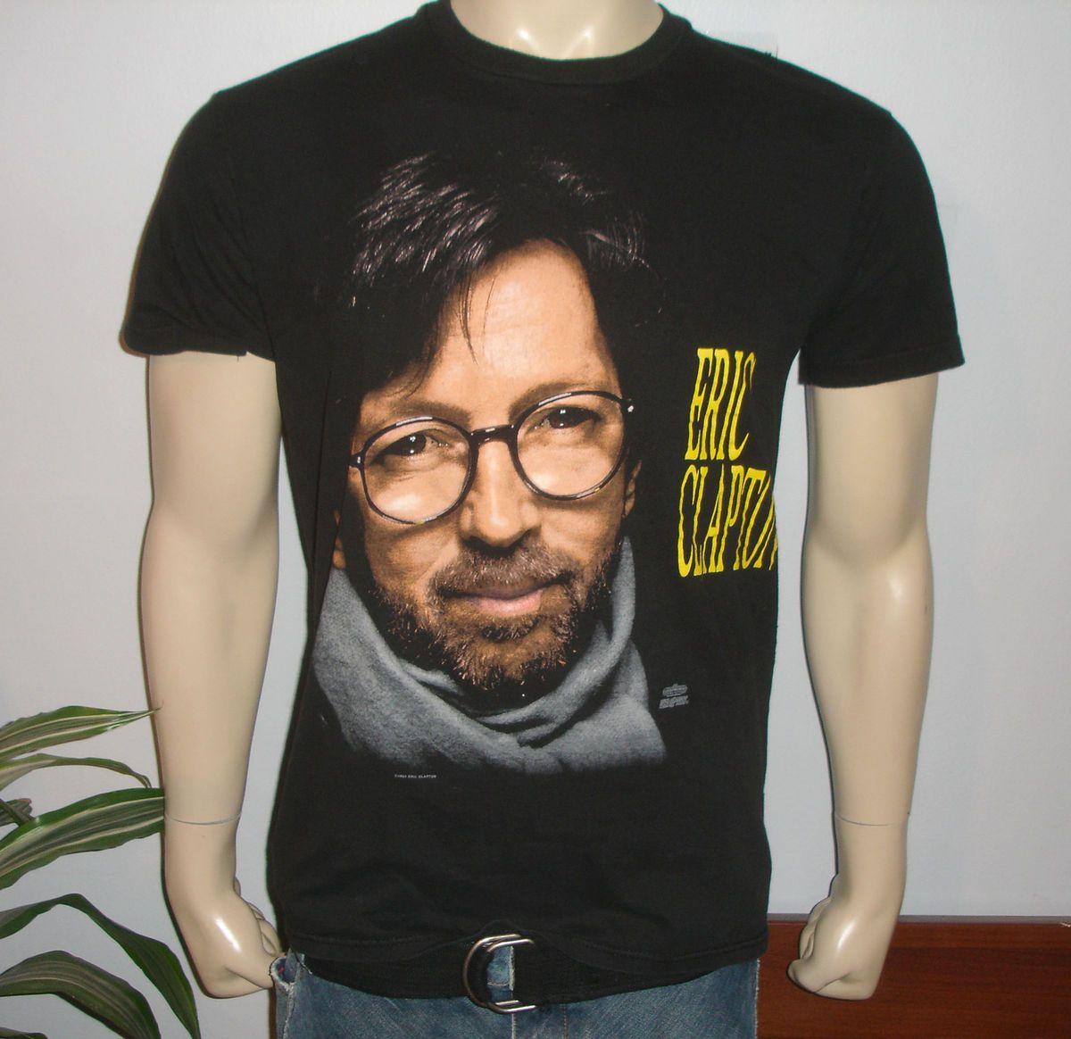 mens 1992 ERIC CLAPTON vtg rock concert tour t shirt L 80s band