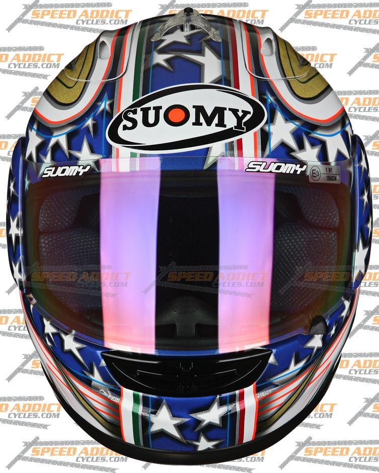 Suomy Spec 1R Extreme Excel Canepa Full Face Motorcycle Helmet x Large