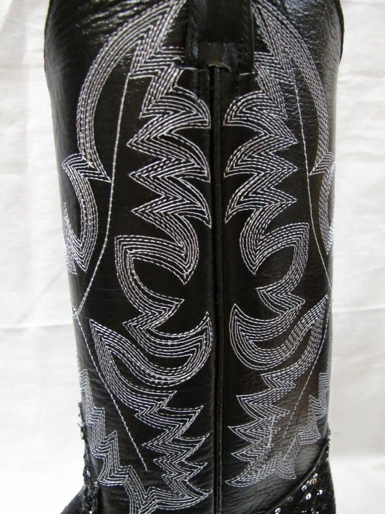 Hot Ladies Womens Sequins Fabolous Shiny Bling Western Cowboy Boots