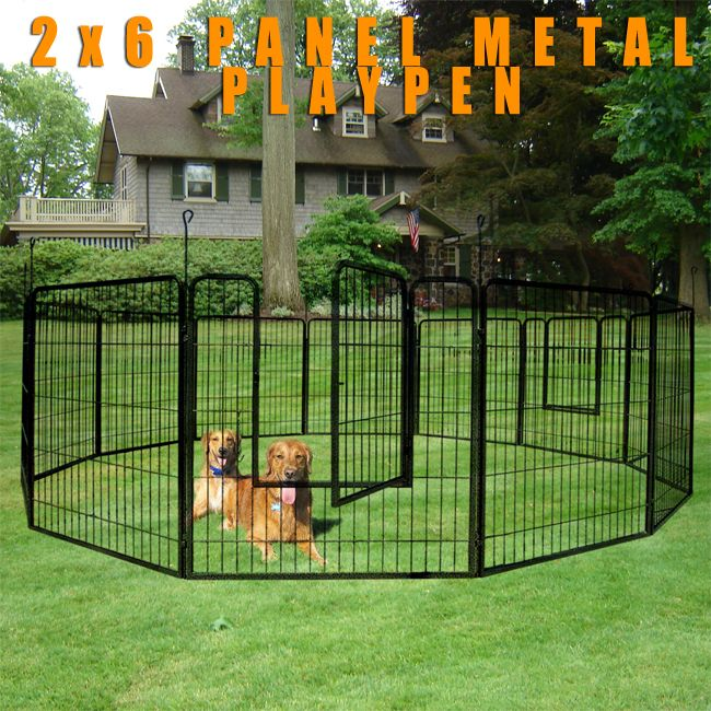 Duty Cage Pet Dog Cat Barrier Fence Exercise Metal Play Pen Kennel New