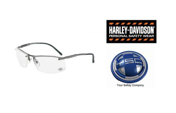 Harley Davidson HD701 Safety Glasses Motorcycle Glasses Clear Lens