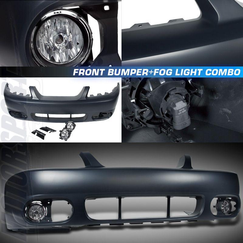1999 2004 Ford Mustang Cobra Style Front Bumper Chrome Fog Lights