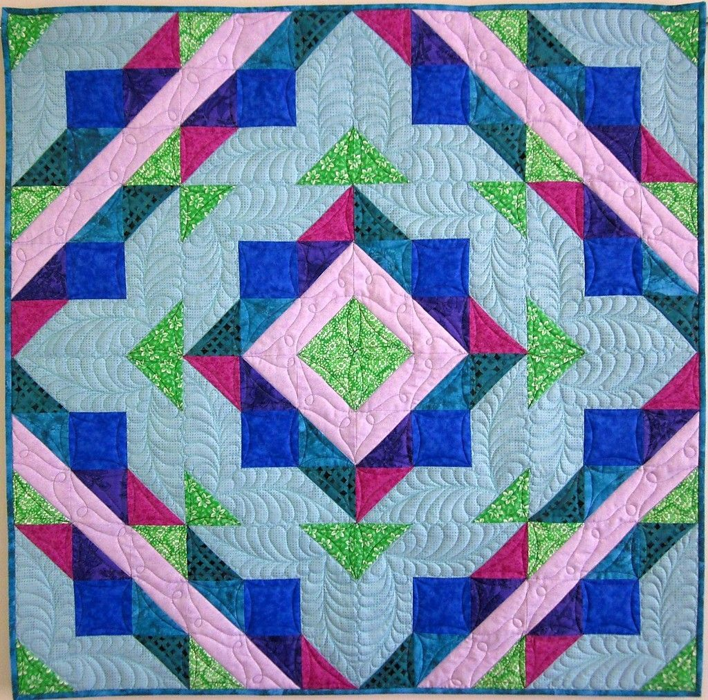 Quilt Top Pattern Hugs Kisses Sizes Baby Throw King Jewel Tone New