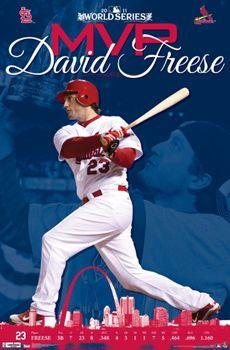 DAVID FREESE St Louis Cardinals 2011 WORLD SERIES MVP Commemorative