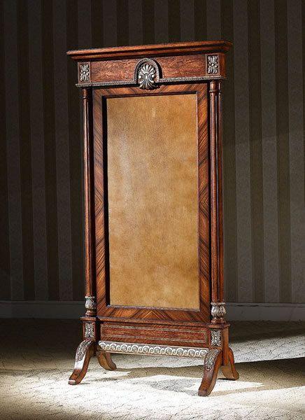 Warm Brown Rococo Full Length Mirror