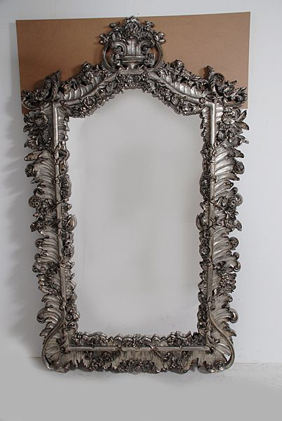 Antique Style Full Length Dressing Mirror Silver Leaf Scrolls Hand