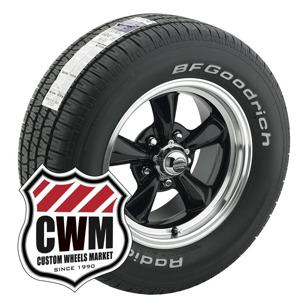 15x7 15x8 Black Wheels Rims Tires 235 60R15 255 60R15 for Ford