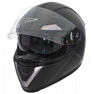 Fulmer Full Face Motorcycle Helmet with Sunvisor Gloss Black Sz Med
