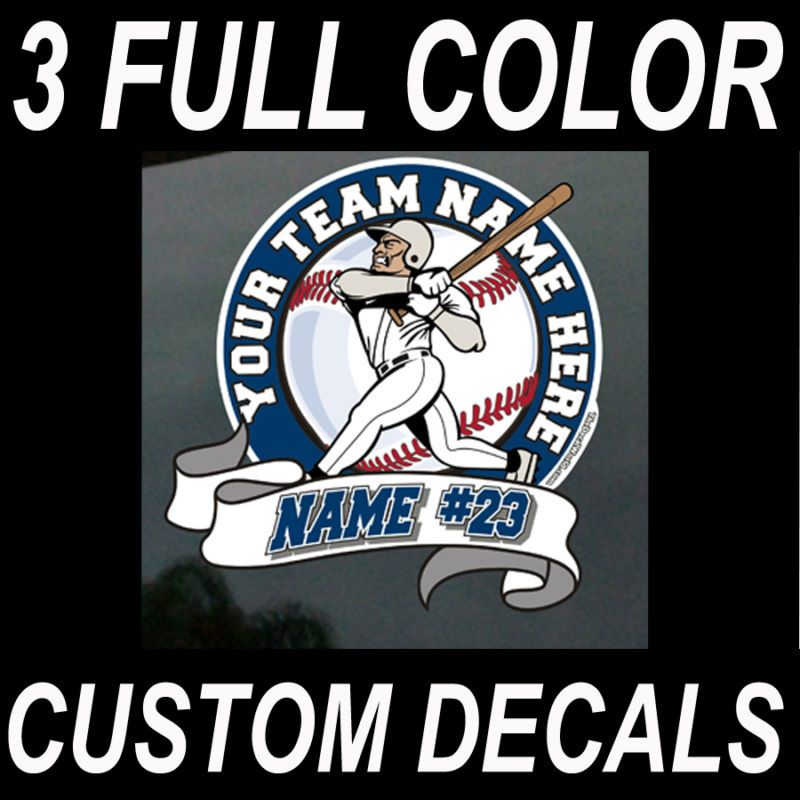 Baseball Car Window Decals Fundraising Sports Mom Dad