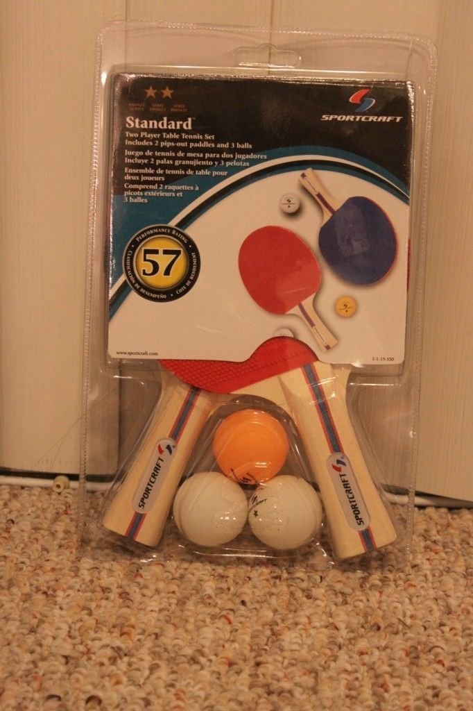 SPORTCRAFT Two Player Table Tennis Set ping pong NEW IN PACKAGE
