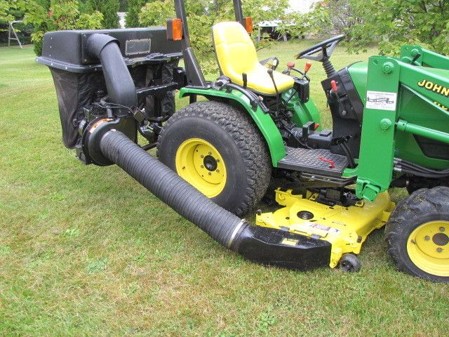 John Deere Mower Deck And Leaf Lawn Vacuum Bagging System