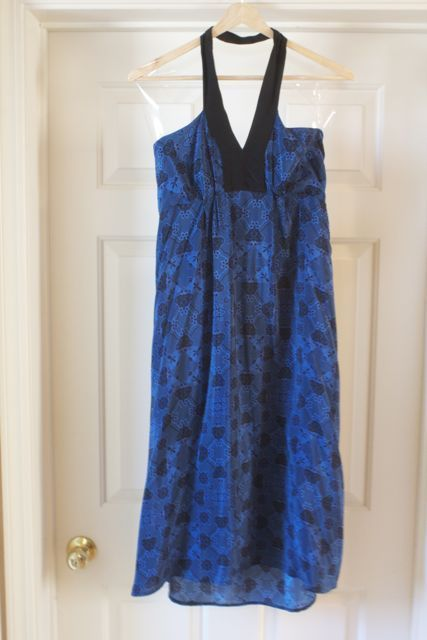 Geren Ford Silk Halter Print Dress Size s Orig $398