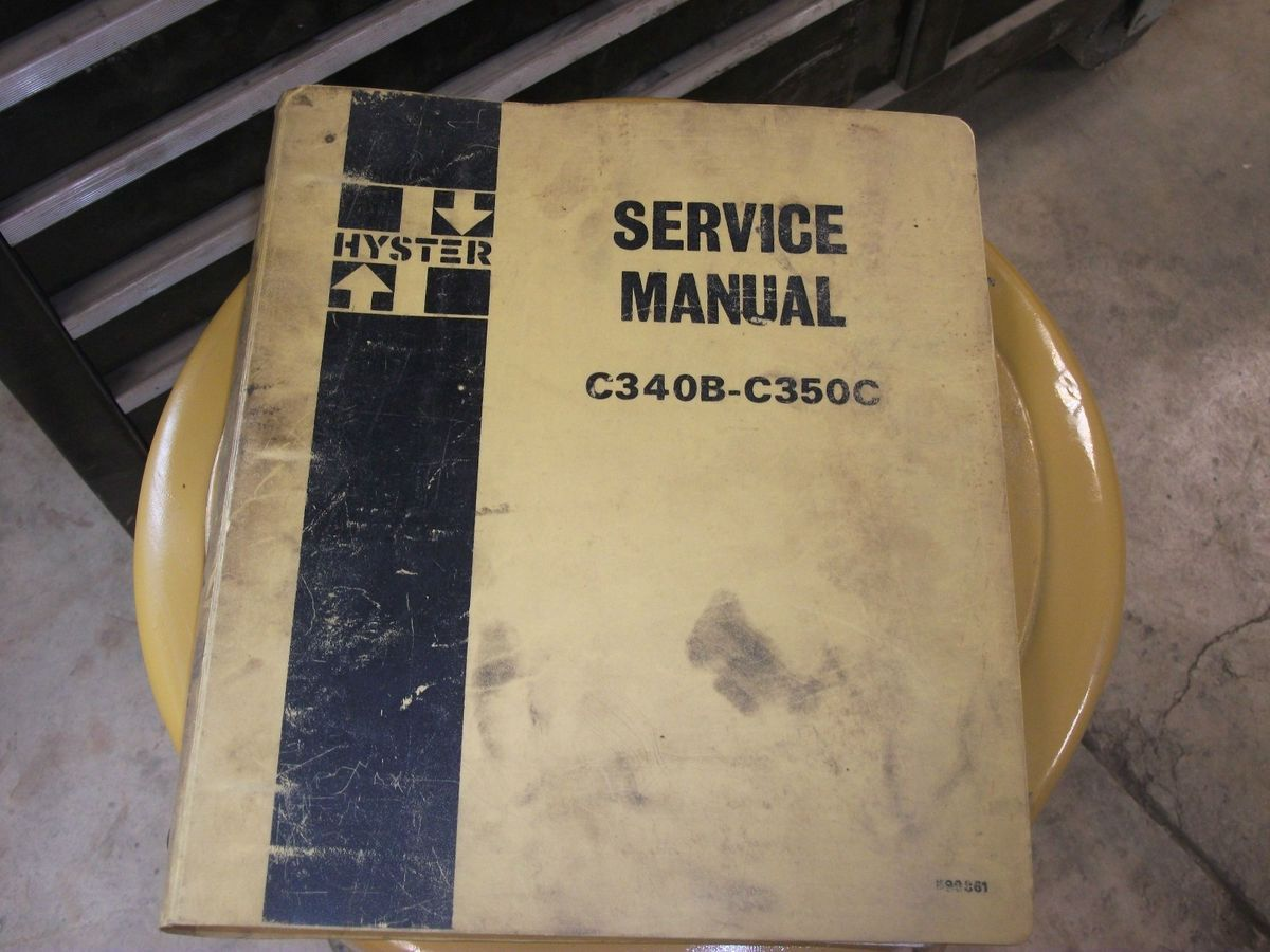 Hyster C340b C350c Roller Service Manual Forklift Wiring Diagram E60