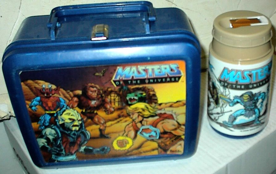 Vintage Aladdin He Man Masters of the Universe Plastic Lunch Box w