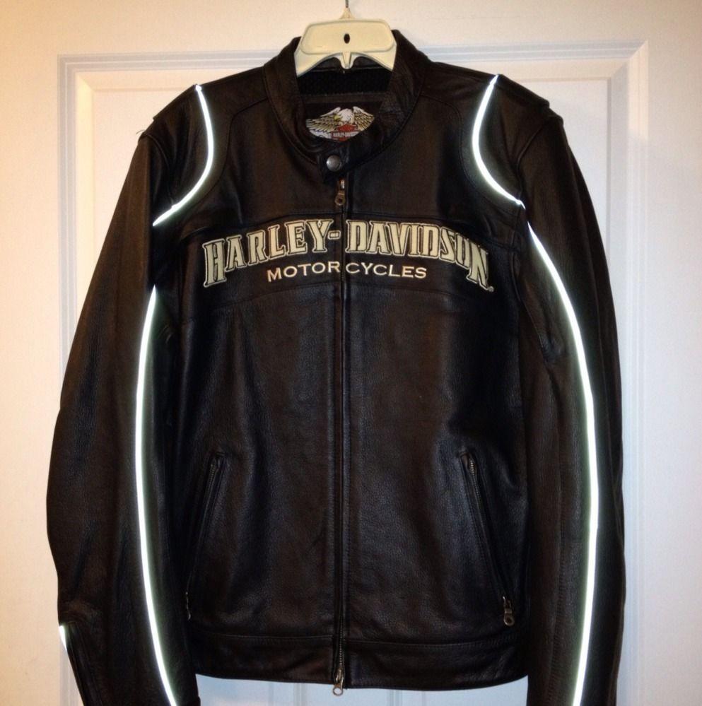 Harley Davidson Mens Size Large Leather Riding Jacket
