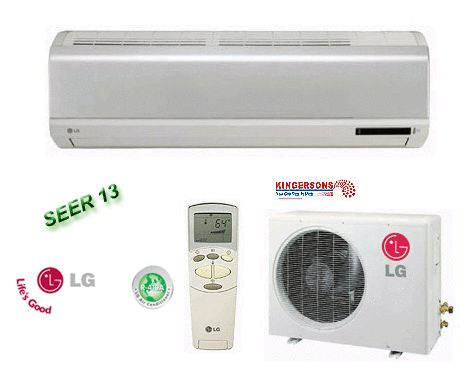 18000 BTU LG Ductless Mini Split Air Conditioner SEER 13 Cool Heat