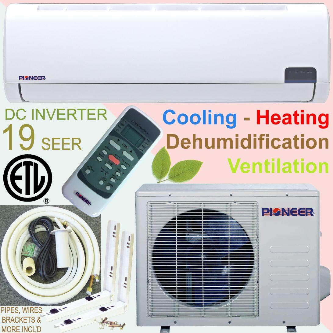 PIONEER 19 SEER INVERTER Ductless Mini Split Air Conditioner Heat Pump