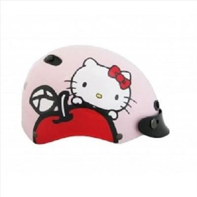 Hello Kitty Motor Bike Helmet Apple Pink, White, Hotpink Sanrio