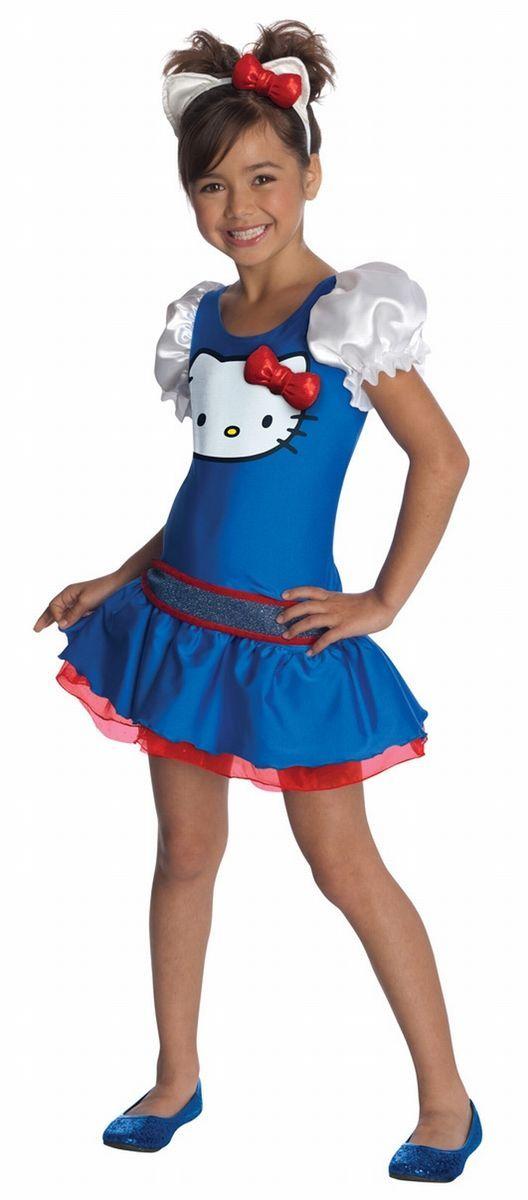 Girls Hello Kitty Blue Dress Halloween Costume Child Size Large 12 14