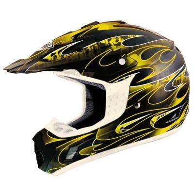 THH TX 12 Ignite Black Yellow Full Face Dirt Bike Motorcross Racing