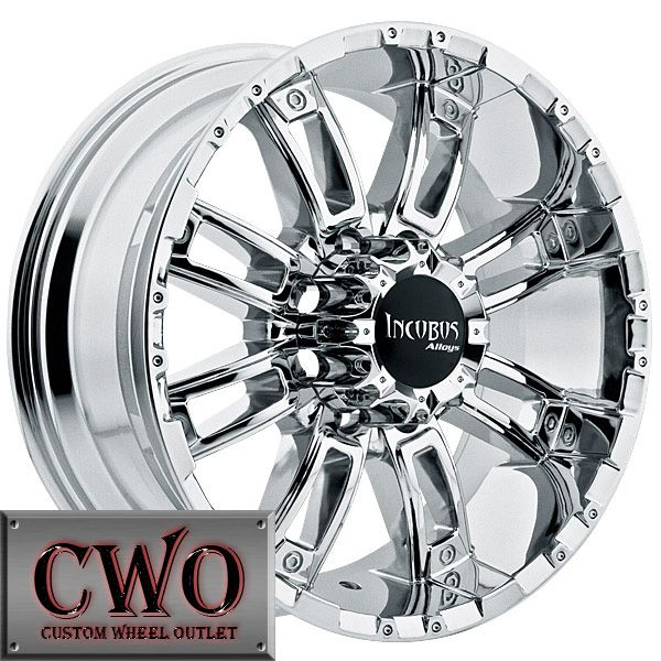 18 Chrome Incubus Crusher Wheels Rims 8x165 1 8 Lug Chevy GMC Dodge