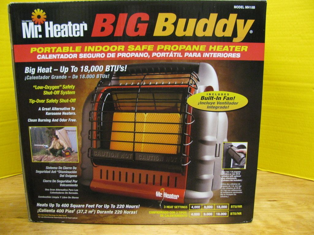 Mr Heater Big Buddy Portable Indoor Safe Propane Heater