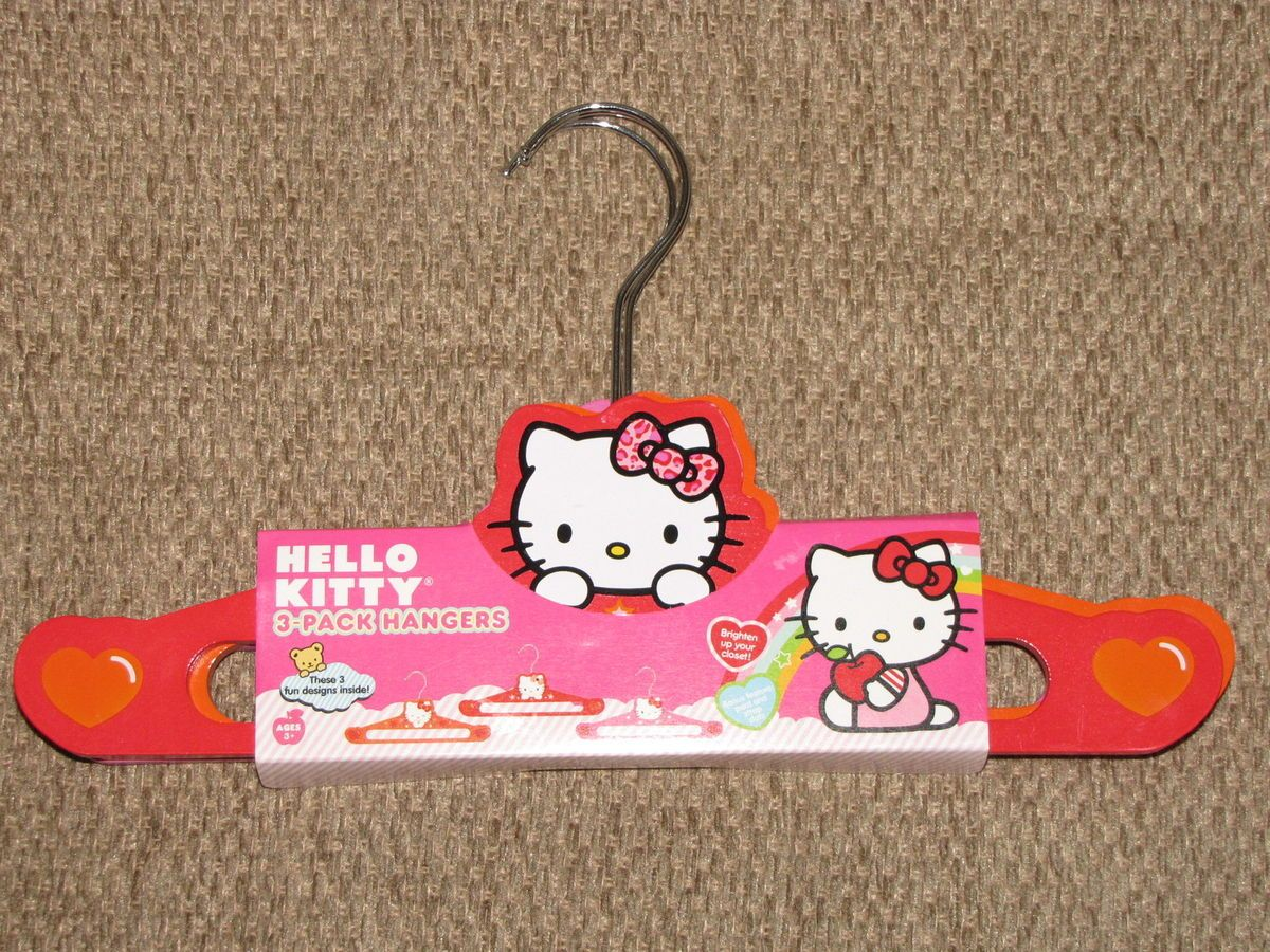 Sanrio Hello Kitty Kids Baby Infant Clothing Hangers Wood with Metal