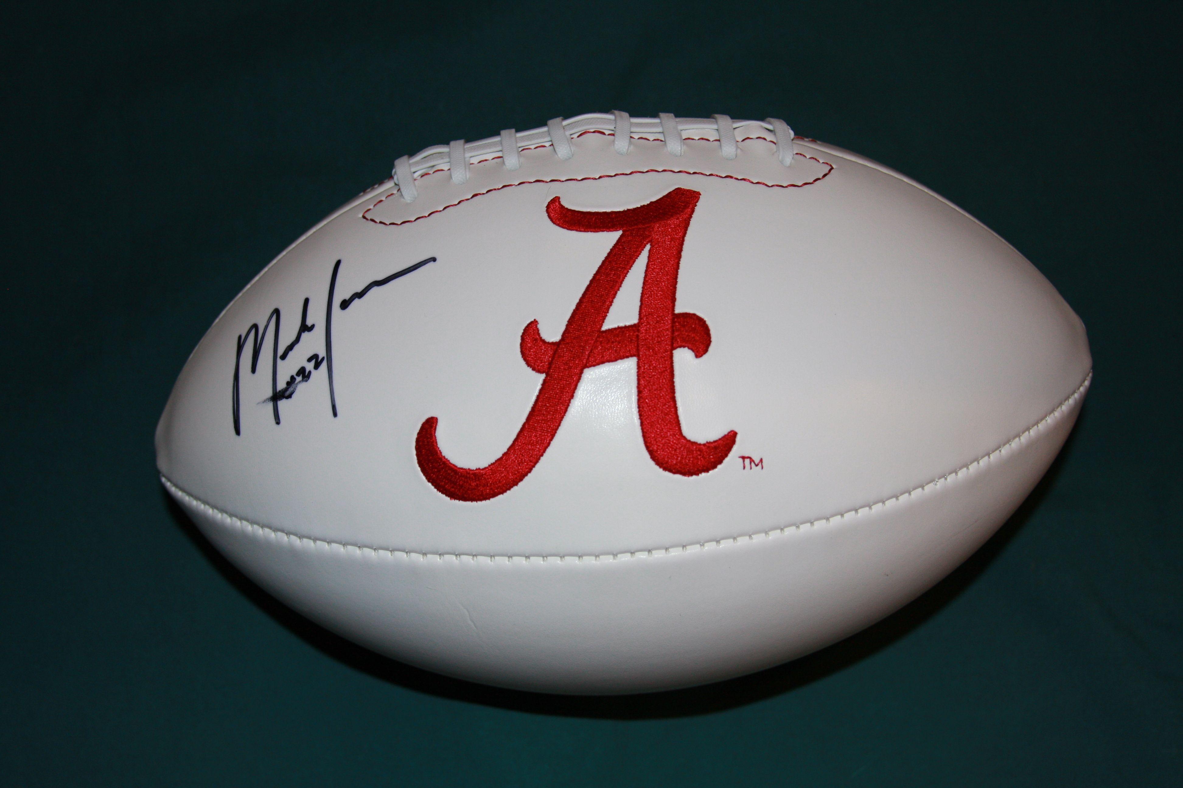 Mark Ingram Alabama Crimson Tide Logo Football GAI