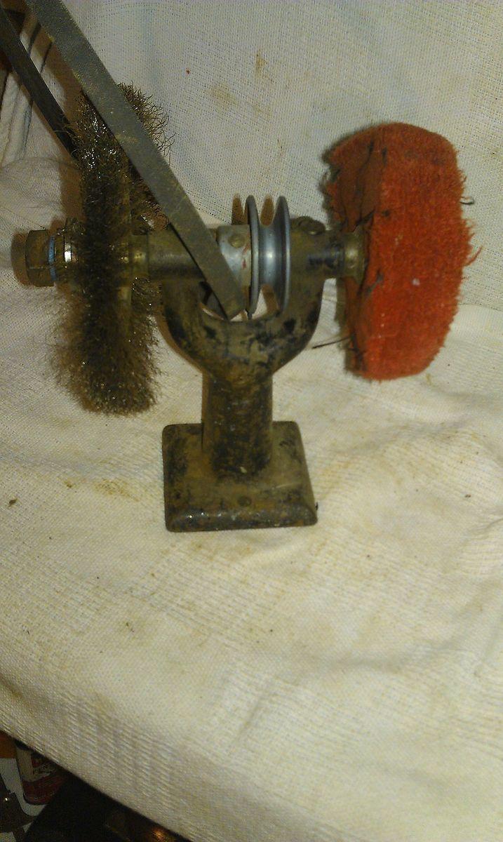 vintage cast iron belt driven grinder blacksmith forge anvil hobby