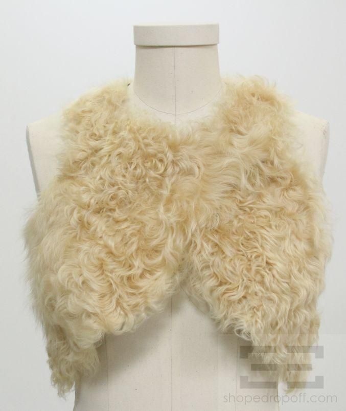 Isabel Marant Beige Lamb Leather Lambswool Vest Size 1