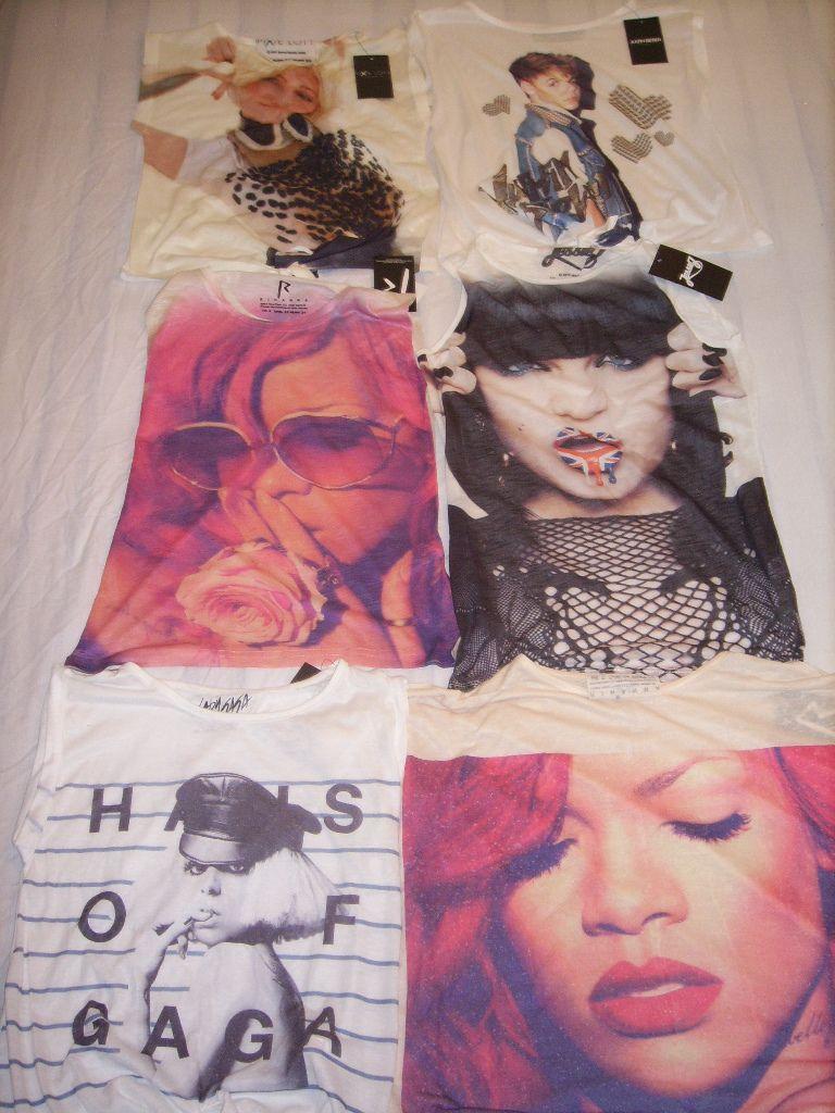 Primark T Shirt Jessie J Rihanna Justin Bieber Lady Gaga Vest