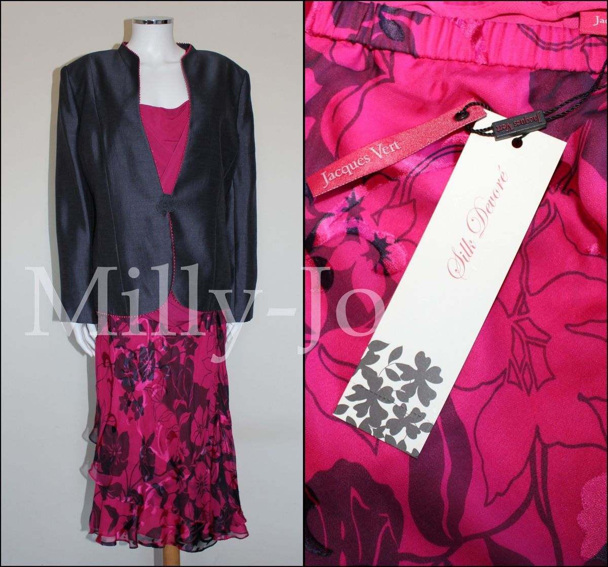 BNWT Jacques Vert Mother of Bride Skirt Suit Special Occasion Suit