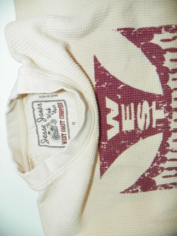 Jesse James West Coast Choppers Ribbed Sweater Shirt Size M Medium