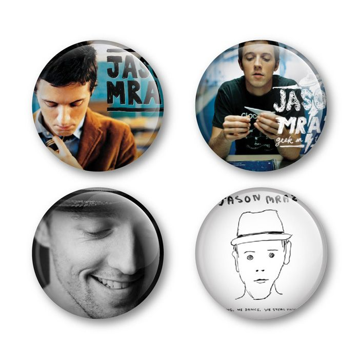 Jason Mraz Badges Buttons Pins Shirts Tickets Albums Live DVD