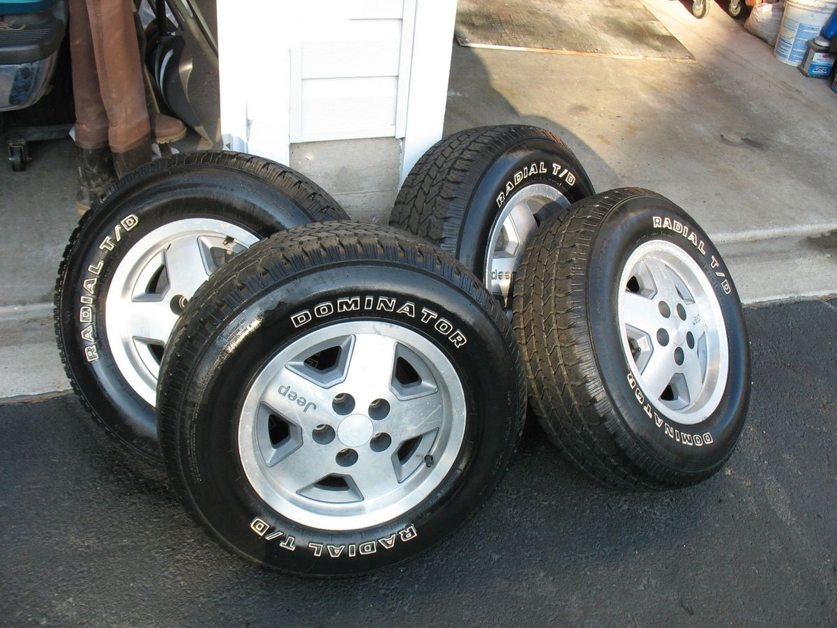 Jeep Wrangler Tires and Wheels Package Like New 15inch