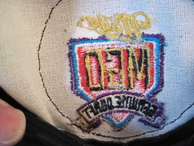 MILLER HAT WITH HARLEY DAVIDSON USA PATCH BLACK LEATHER W/ ADJUSTABLE