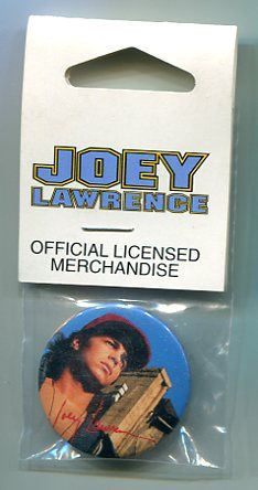 Joey Lawrence Button Pin Back in Original Pack 1993