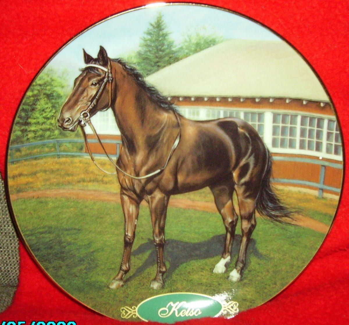 Danbury Mint Horse Plate Kelso Legendary Thoroughbreds RARE