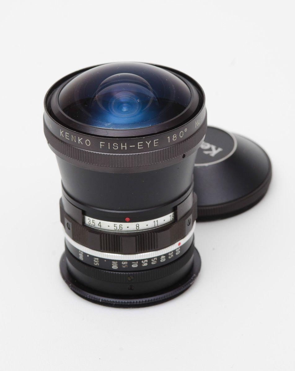 Kenko 180 Degree Fish Eye Fisheye Auxilliary Lens for 52 Diameter Lens